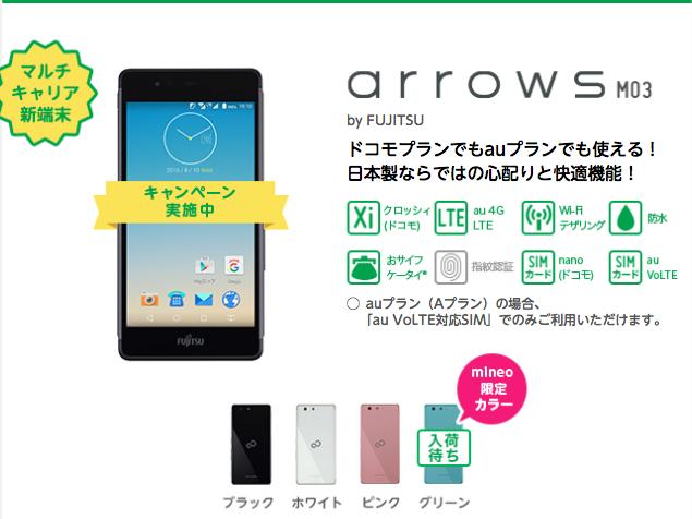 arrows M03 mineo