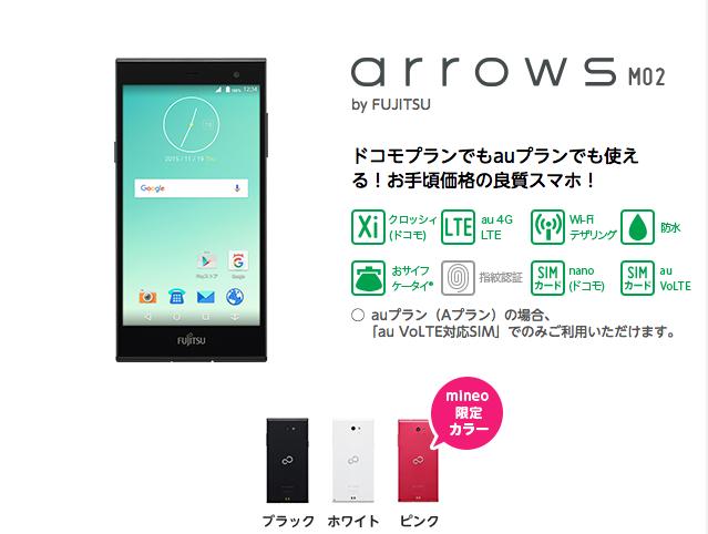 arrows M02 mineo