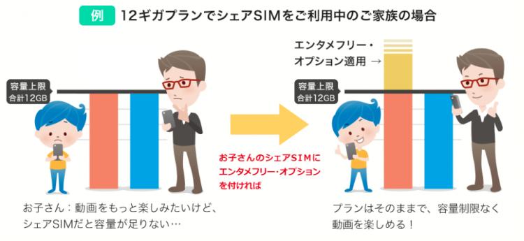 BIGLOBE SIM エンタメフリーオプション