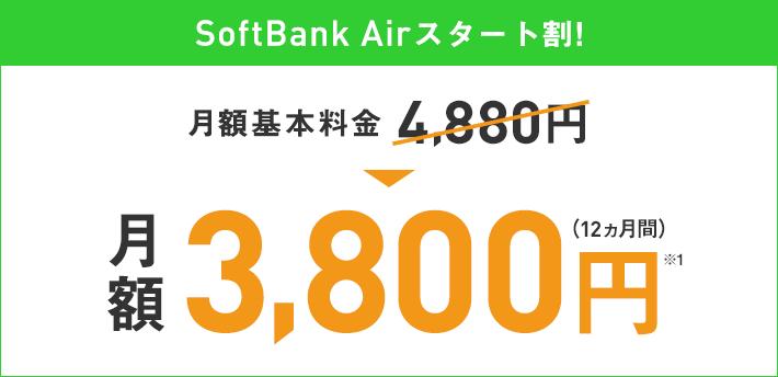 ソフトバンクの置くだけWi-Fiの月額料金キャンペーン