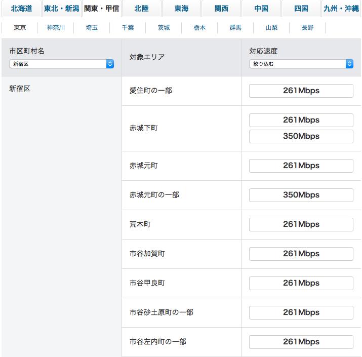 SoftBank Airのエリア判定