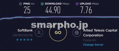 SoftBank Airの有線接続の通信速度