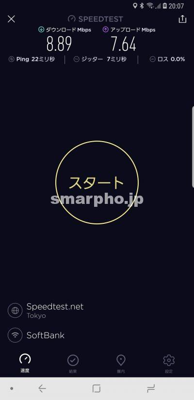 SoftBank Airの夜の通信速度