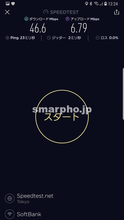 SoftBank Airの昼の通信速度