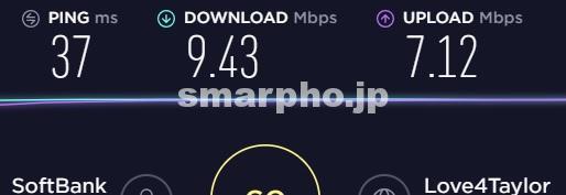 SoftBank Airの速度制限時の通信速度