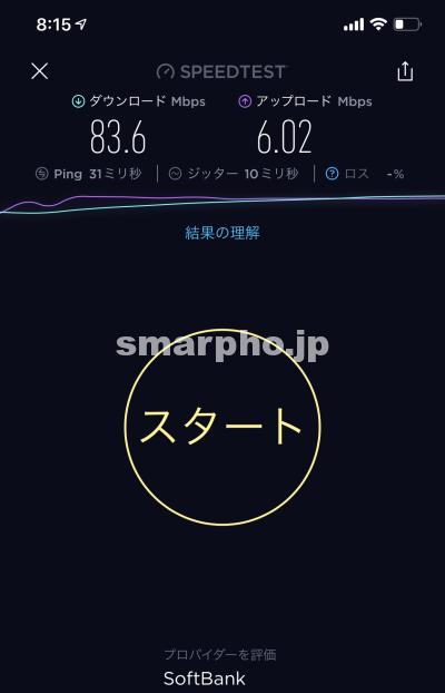 SoftBank Airの朝の通信速度