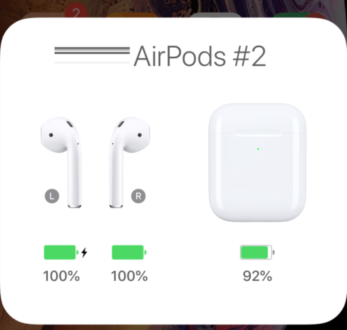 AirPods2_バッテリー確認