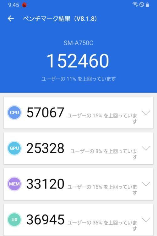 GalaxyA7_AnTuTuベンチマーク