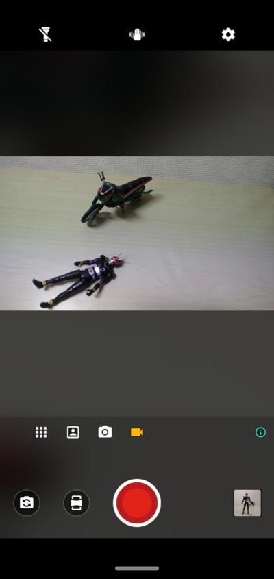 motog8plus_アクションカメラ起動中